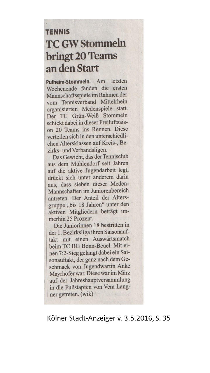 TCS in der Presse